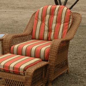 Awesome Orange Striped Patterned Fabric Cushion Sets Combined Wicker  Outdoor Furniture As Well As Sunbrella Patio Cushions Plus Cushions For  Patio Furniture