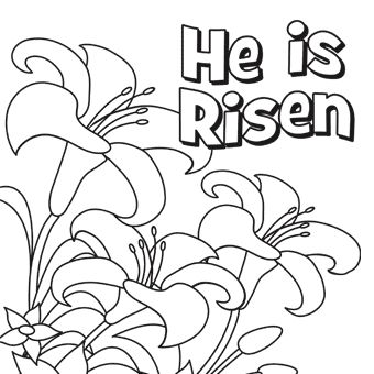 157 best images about easter coloring pages on pinterest for Jesus is risen coloring page