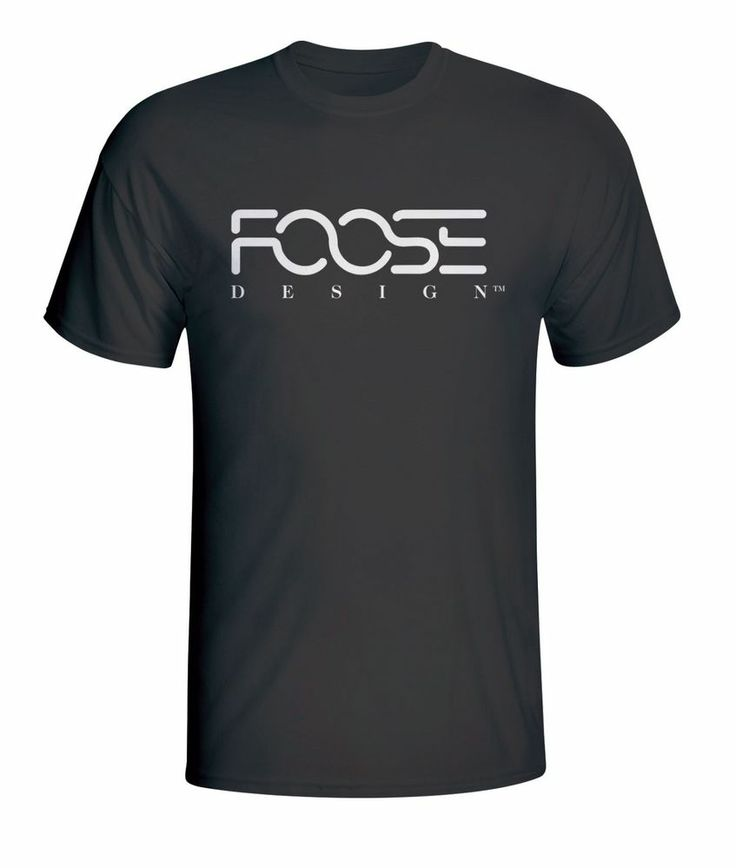 New Foose Design Automotive Logo Text Men's Black T-Shirt Size S to XXL #
