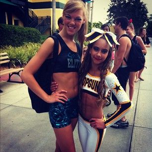 Maddie Gardner and Gabi Butler - two Allstar Flyers at Cheerleading Worlds 2012 - follow cheerleading news and blog on http://www.cheercoach.net/profiles/blog/list