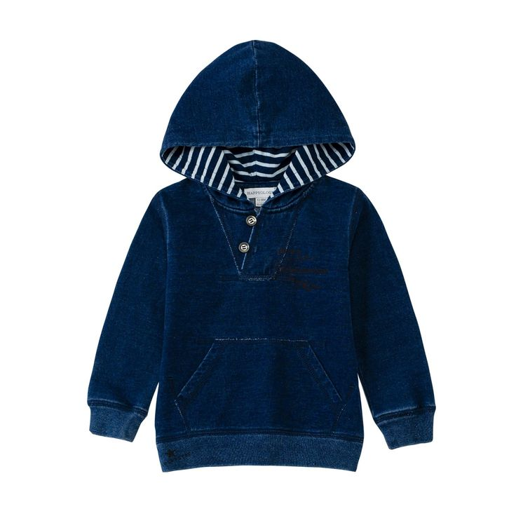 50% off everything at Happyology | Jersey Denim Hoodie