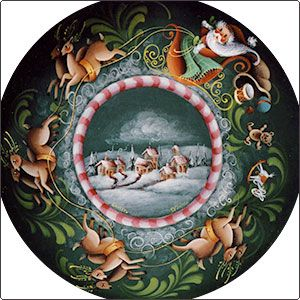 I love this Christmas Plate. I have loved her work for a long time, amazing family!