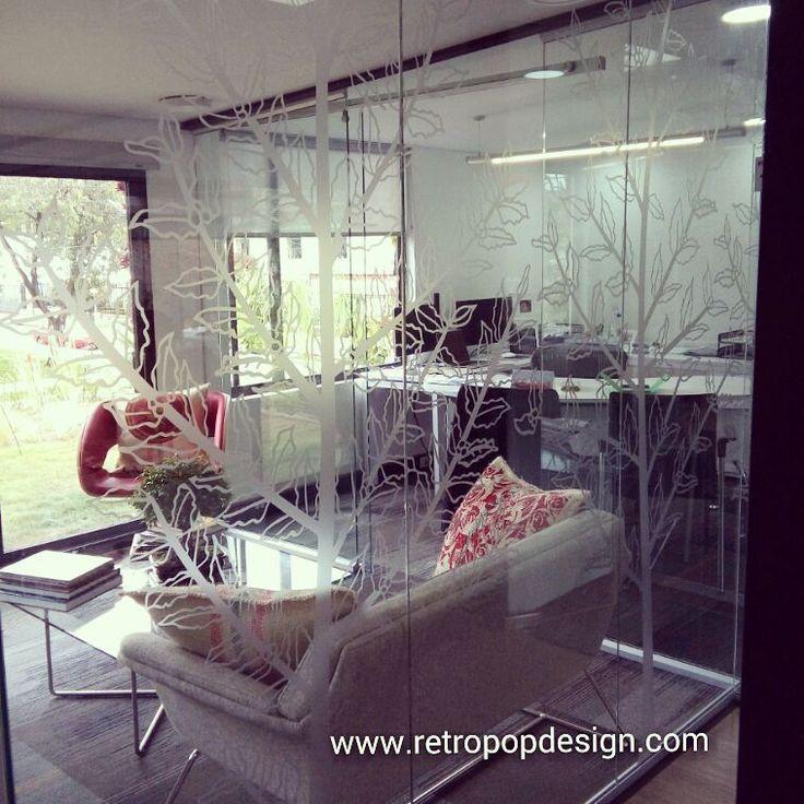 retropopdecoracionProyecto instalado oficinas Virmax Colombia. Vinilo frosted para vidrios con diseños personalizados. #vinilosdecorativos #vinilosoficinas #decoracion #decoracionoficinas  Www.retropopdesign.com Tels: 7522144 / 3102487305