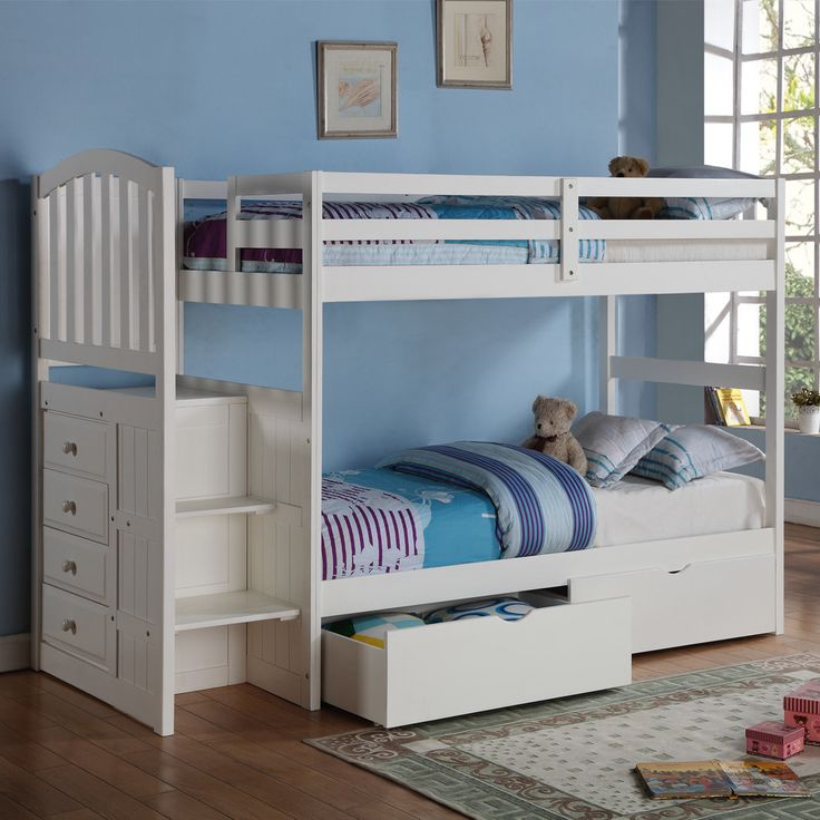 Donco Kids Donco Kids Twin Standard Bunk Bed with Underbed Drawer