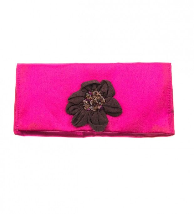 Pink Fabric Evening Purse