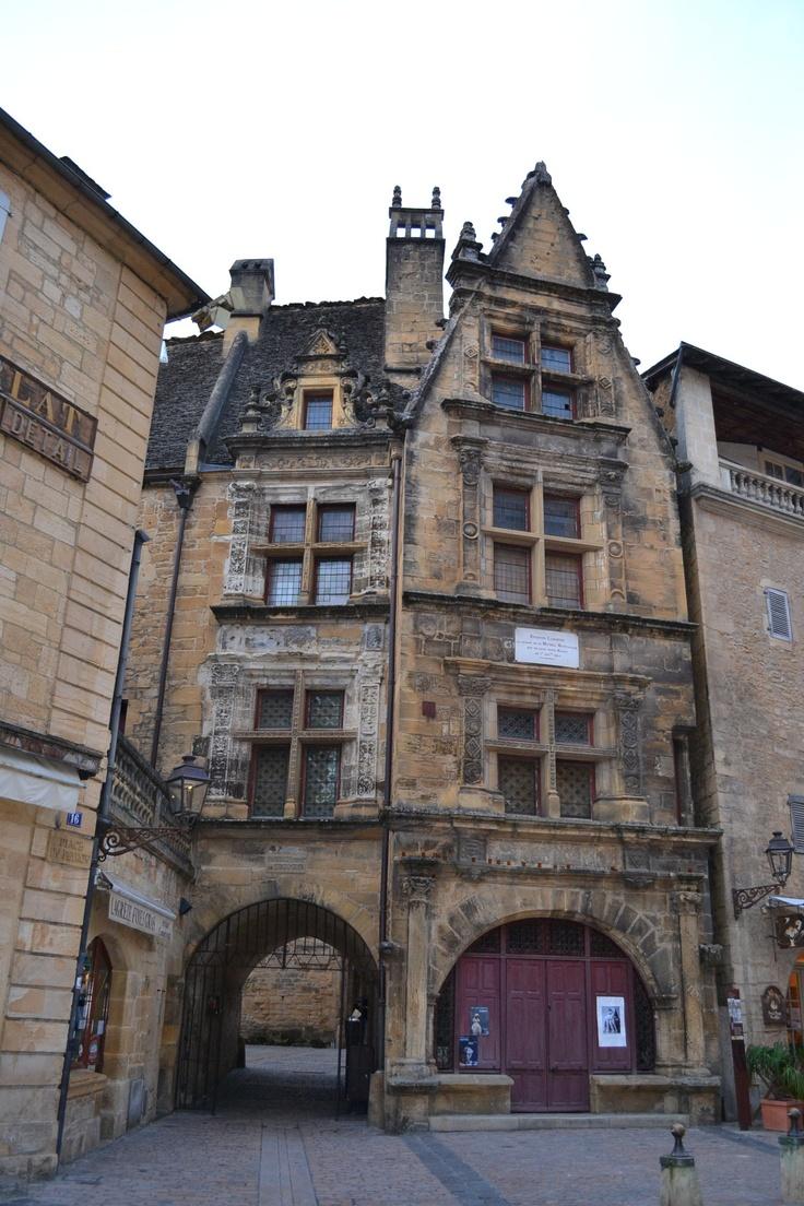Sarlat, Dordogne, France. Maison de naissance de Etienne de la Boétie, écrivain humaniste et poète français.