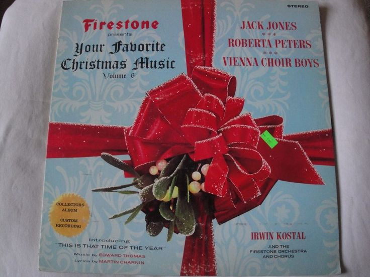 Firestone Presents Your Favorite Christmas Music, Vol. 6 Vinyl Lp Irwin Kostal #Christmas