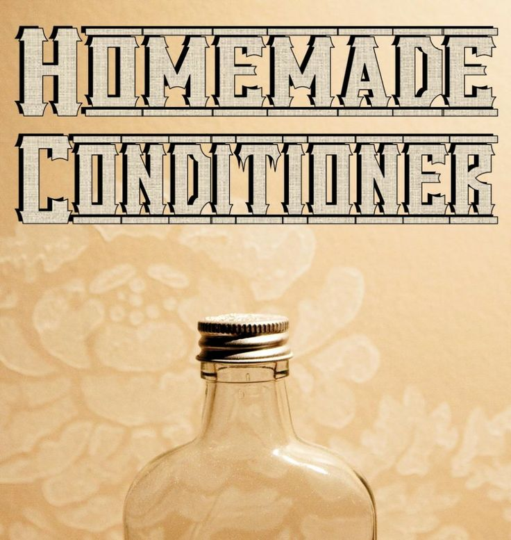 Homemade Conditioner Recipes  Old Fashioned Vinegar Conditioner 1 Part Apple Cider Vinegar 1 Part Water That's it folks! Get a spray bottle and spritz, rinse. Don't be fooled by the simpl