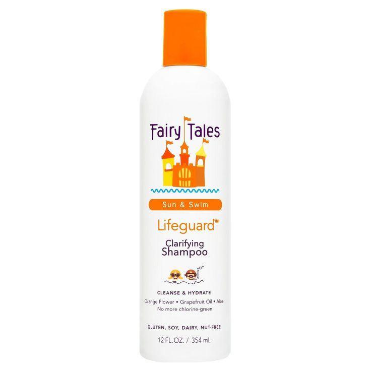 • clarifying shampoo for swimmers by Fairy Tales<br>• removes chlorine and minerals with natural ingredients<br>• nourishes and gently cleanses hair<br>• recommended for childrens' hair <br><br>Ease out chemical and natural irritants from your little ones locks with Fairy Tales Clarifying Shampoo - 12oz. This naturally-based swimmer's shampoo removes chlorine and minerals with fruit enzymes and citrus extrac...