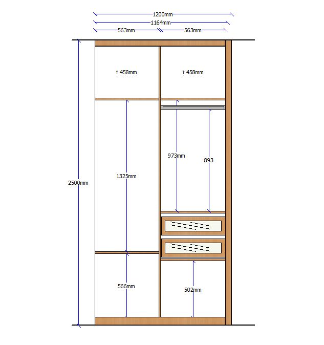 Closet elevation 16