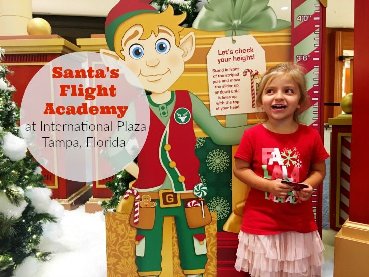 Where to see Santa in Tampa, Florida!  International Plaza is where you want to be! Santa's Flight Academy is amazing!