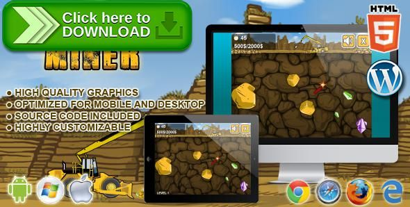 [ThemeForest]Free nulled download Gold Miner - HTML5 Game from http://zippyfile.download/f.php?id=44606 Tags: ecommerce, arcade, arcade game, classic game, digger, game, gold miner, html5, mobile, puzzle, puzzle game