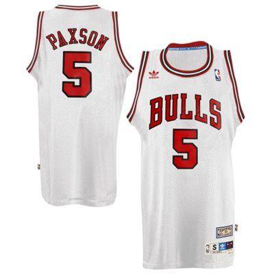 72067676c ... NBA Jersey sale for adidas John Paxson Chicago Bulls Hardwood Classics  Swingman Jersey - White ...