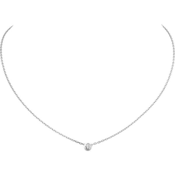 Diamants Légers de Cartier 18ct white-gold and diamond necklace ($1,515) ❤ liked on Polyvore featuring jewelry, necklaces, diamond jewellery, cartier jewelry, chain jewelry, white gold jewellery and chain necklace