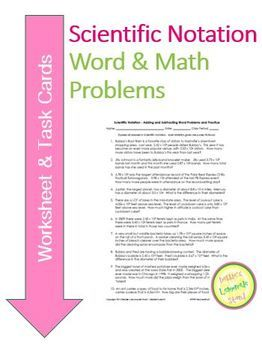 scientific notation add and subtract worksheet task ca - Adding And Subtracting Scientific Notation Worksheet