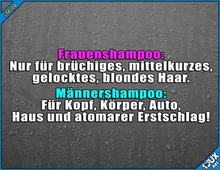 Allzweckshampoo for MEN!  #Humor #sowahr #lustig #lustigeBilder #Jodel #Sprüche #SpruchdesTages