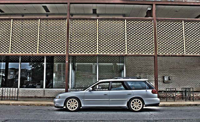 Subaru Legacy GT with STi wheels