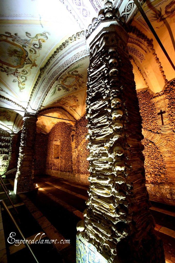 Evora, Portugal ossuary chapel (Capela dos Ossos)