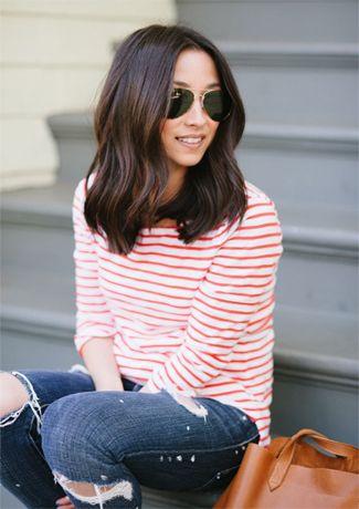 Women hairstyles 2015 Long Bob Dark Hair