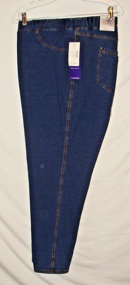 Catherines Comfort Fit Plus Size Jeans Size 3X Stretch Waist NEW 54$ NWT A49 #Catherines #straightlegknitlikealegging