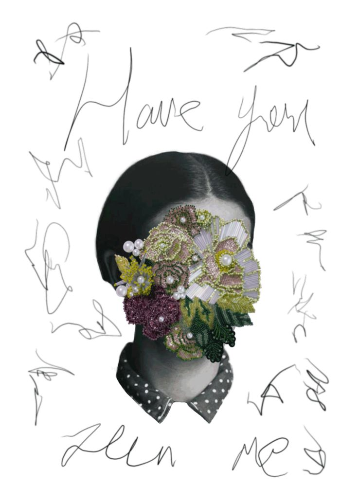 Have you seen me? mixed media collage / handembroidery & graphic design