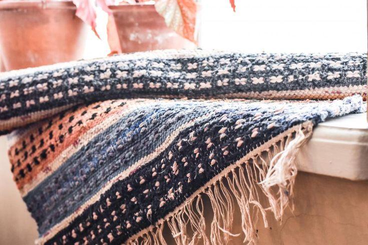 Swedish vintage rag rug 0724 - Rugs of Sweden