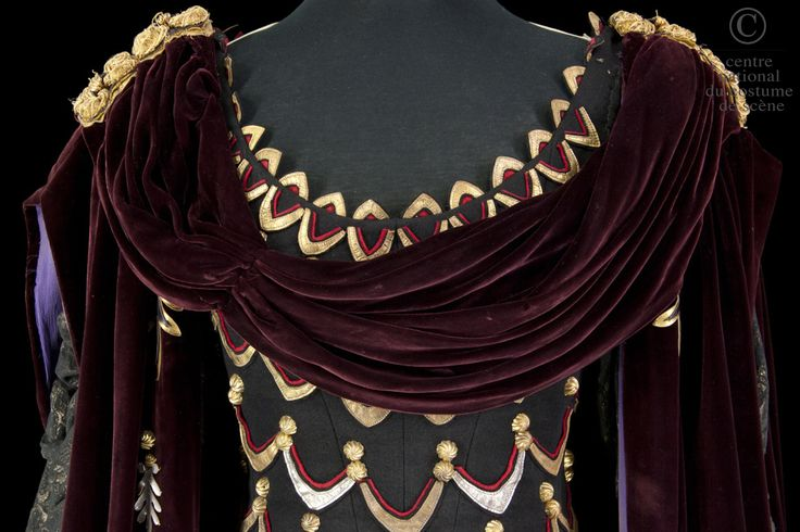Agrippine Costume designed by Francine Gaillard-Risler for Annie Ducaux in the 1961 production of Jean Racine's Britannicus