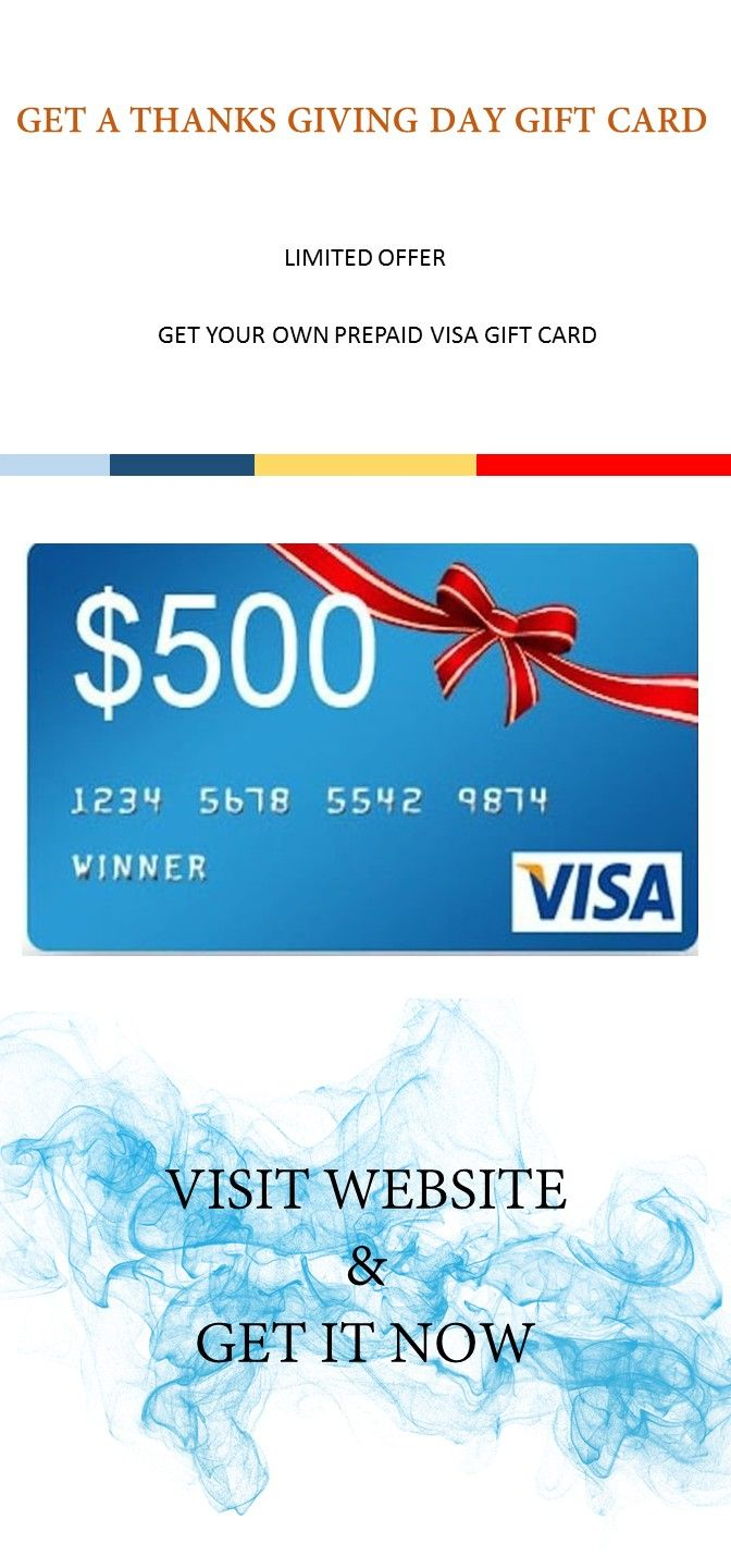 Get your own prepaid VISA gift card. Participation required. [] USA ONLY [