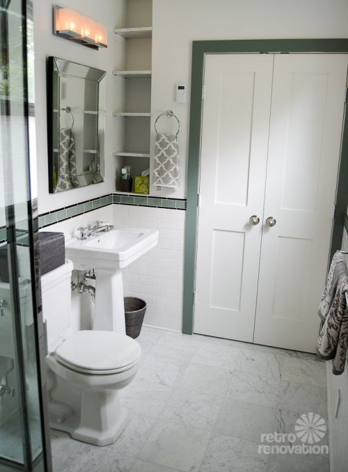 1930s bathroom gorgeous colors tile work design details - New Bathroom Style