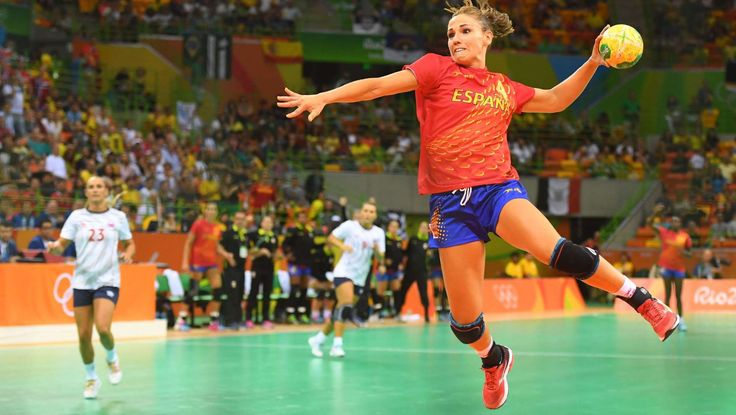 Olympics: Handball  -   Spain left back Alexandrina Barbosa Cabral (86) shoots on goal in a preliminary round Group A game against Norway at Future Arena during the Rio 2016 Summer Olympic Games.