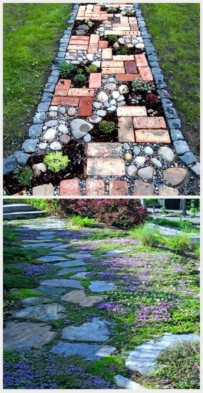 Gartenweg   Idee, sich selbst zu gestalten, Gartenweg  ...
