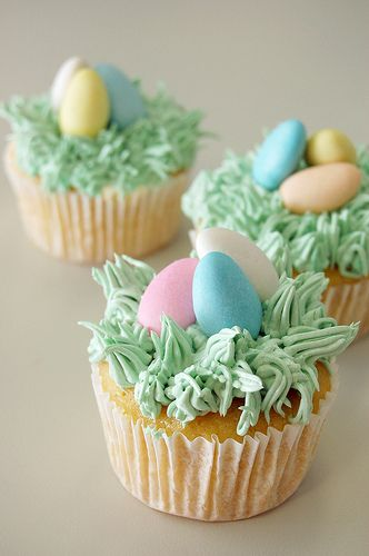 """cupcake I would probably make the """"grass""""icing look a little neater. TPG"""