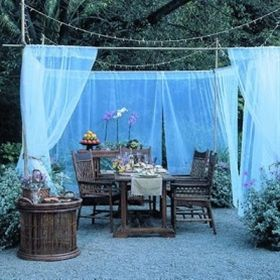 This Gave Me An Idea For My Back Patio...shower Curtains! Can