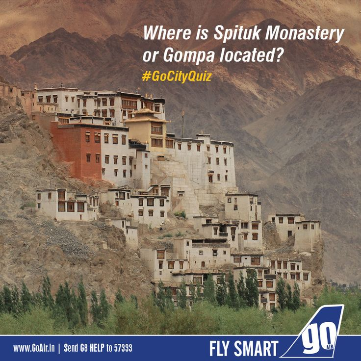 Can you tell where is Spituk Monastery or Gompa located? #GoCityQuiz
