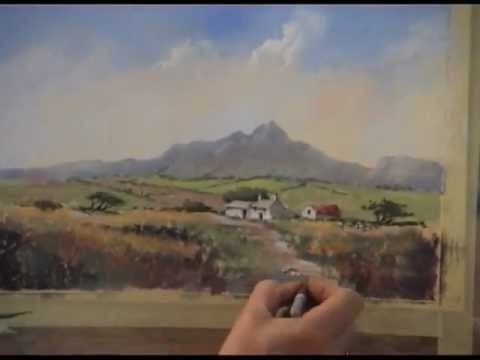 Pastel Painting Demonstration of a Pembrokeshire Cottage for Heart of England Artists