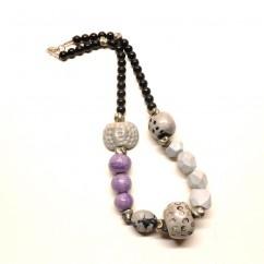 Mor-Gri Kolye  - #tasarim #tarz #mor #rengi #moda #hediye #ozel #nishmoda #purple #colored #design #designer #fashion #trend #gift