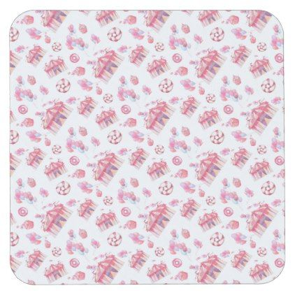 #Big Tent Sweets Square Paper Coaster - #birthday #gifts #giftideas #present #party