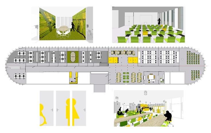 Interior design, education ROB at Saxion Deventer by Manon Stadler & Evelien Lulofs