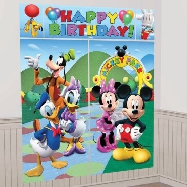 Mickey Mouse Clubhouse Scene Setter Birthday Party Wall Decoration