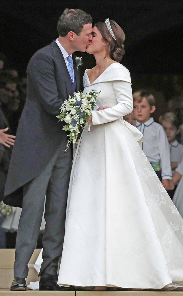 Royal Wedding Kiss.Sealed With A Kiss From Princess Eugenie And Jack