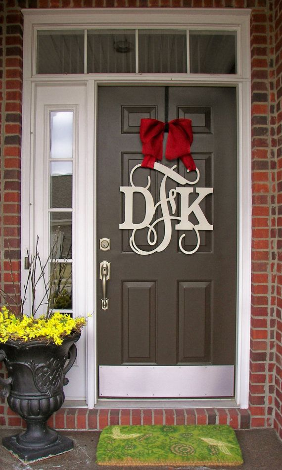 Custom MONOGRAM door hanger/wooden Dana monogrammed by SolelyYou