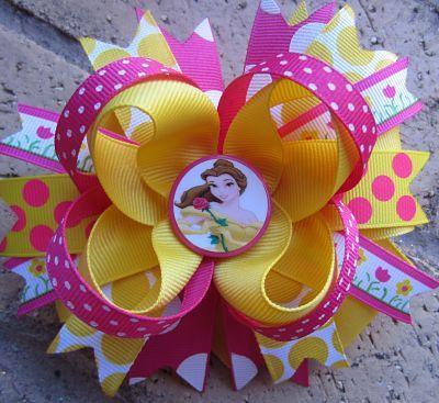 Disney Princess Belle Custom Boutique Hair Bow. $9.99, via Etsy.