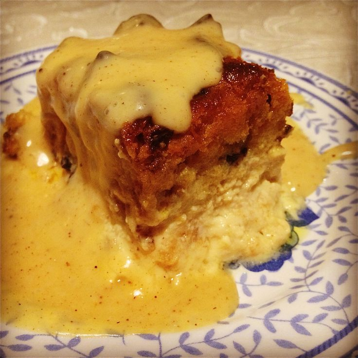 Mardi Gras Bread Pudding with Vanilla-Whiskey Sauce