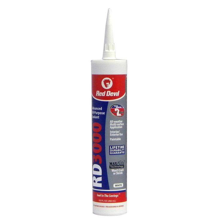Red Devil RD3000 9 oz. Advanced All-Purpose Sealant, White