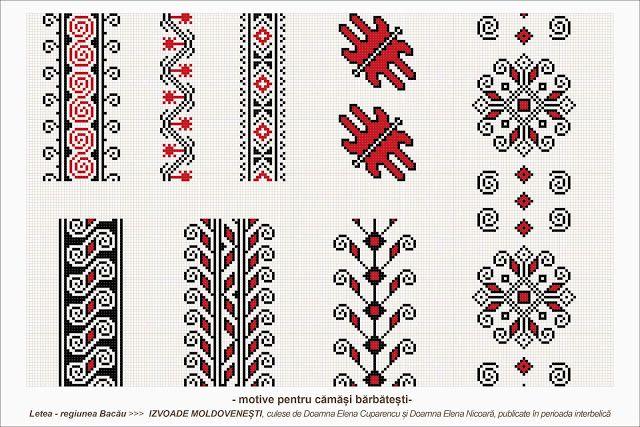 Romanian traditional motifs - MOLDOVA - Bacau, Letea