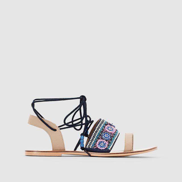 Image Platte sandalen met parels, MADEMOISELLE R MADEMOISELLE R