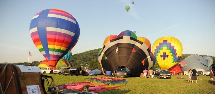 Mass Lauches at the Hot Air Ballon Fair