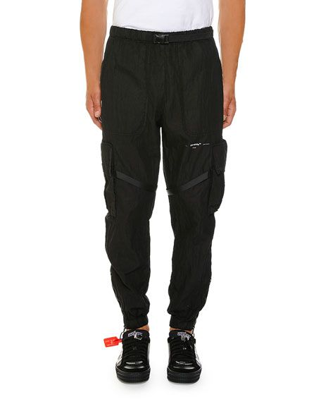 af3427af55cf OFF-WHITE MEN S NO COLOR PARACHUTE CARGO PANTS.  off-white  cloth ...