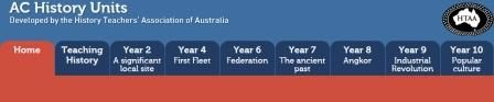 The History Teachers' Association of Australia. Each state is also represented separately plus a link is given to access the AC History Units site.