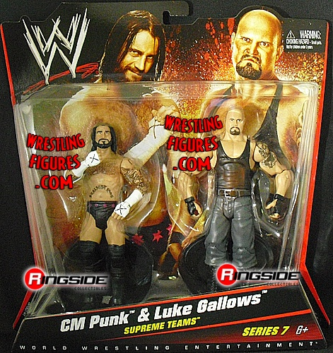 RINGSIDE COLLECTIBLES WWE Toys, Wrestling Action Figures, Jakks Pacific, Classic Superstars Action F: CM PUNK & LUKE GALLOWSWWE 2-PACKS 7WWE Toy Wrestling Action Figures